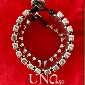 "UNO de 50 Jewelry - NWT! UNO de 50 Bracelet ""Night Fever"" PUL1405; 6""."